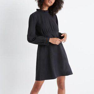 NWT Madewell denim ruffled mockneck dress 6